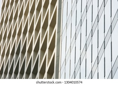 Abstract pattern view of skyscraper