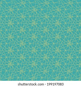 Abstract pattern with yellow lines on blue background