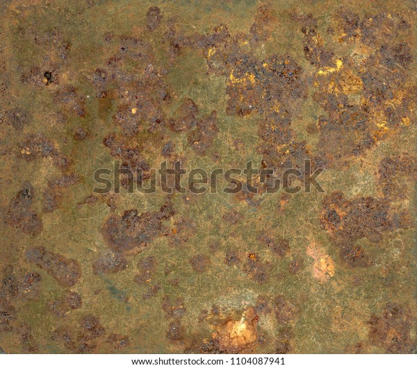 Abstract patterns and textures on an metal surafce