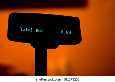 Abstract of payed off debt on the cash register display