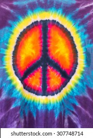 Abstract Peace Sign Design Tie Dye