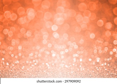 Abstract peach orange glitter sparkle Fall or Autumn background