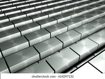 abstract perspective background. cubes background - 3d render