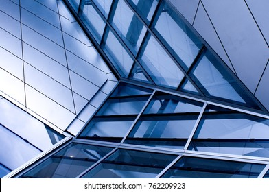 abstract perspective of a modern glass facade