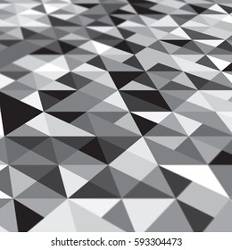 Abstract perspective on a geometric pattern