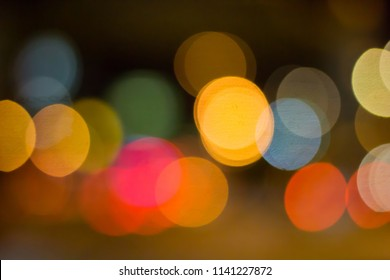 Abstract photo blurred of traffic jams.
