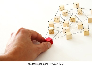 abstract photo of connectivity concept, Linking entities, Hierarchy and HR