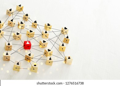 abstract photo of connectivity concept,  Linking entities, Hierarchy and HR.