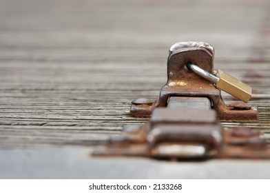 abstract photo of a lock with copy space