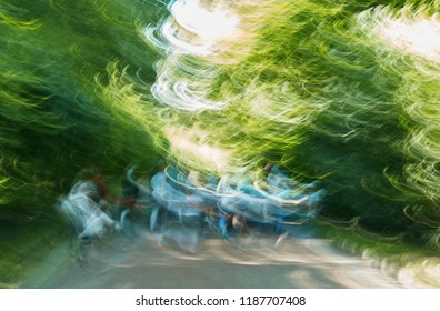 abstract photo of spring forest background with the help of camera hand shake