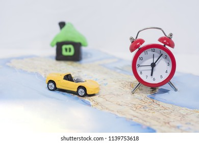 Abstract photo of time planning and spending in vacation.