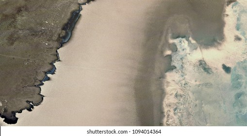 abstract photograph of the deserts of Africa from the air