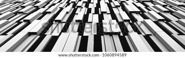 An abstract photograph of the facade of a car-park