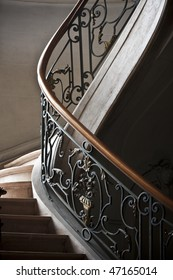 Abstract picture of tha railing of a stair