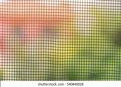Abstract picture through mosquito net, for background