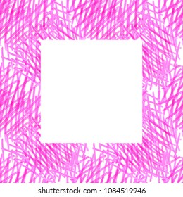 abstract pink background with a frame of square markers on a white background