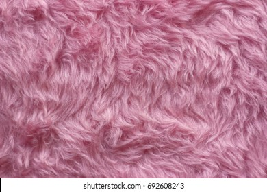 Abstract, pink fake fur background