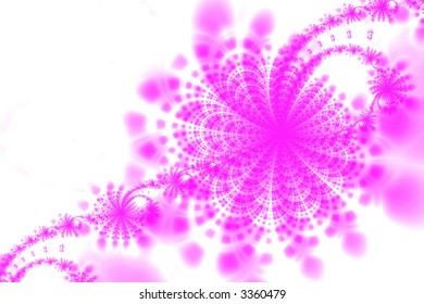 Abstract pink flowers background