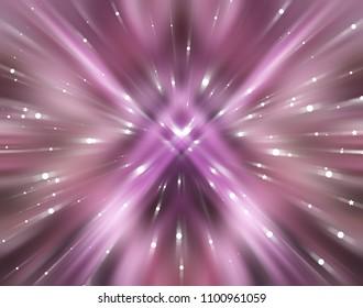 Abstract pink fractal composition. Motion illustration. Illustration for design.