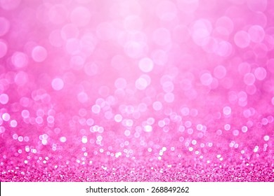 Abstract pink glitter sparkle confetti background or invitation for happy birthday card, girly princess party pattern, little baby girl announcement, sale poster, bridal shower or wedding backdrop
