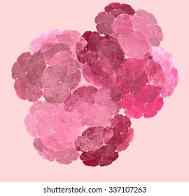 Abstract pink pattern on light background, computer generated image for logo, design concepts, web, prints, posters.