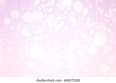 Abstract pink round  bokeh or glitter lights background. Circles and defocused particles