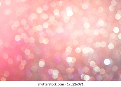 Abstract Pink & Violet Glitter Christmas Light blurred background