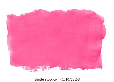 Abstract pink watercolor background. Isolated on white background.