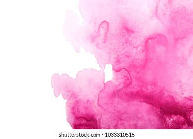 abstract pink watercolor splash stroke background