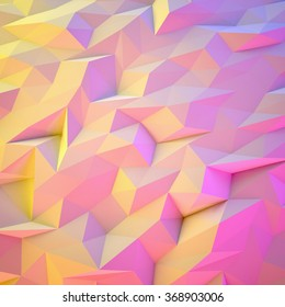 Abstract Pink and Yellow