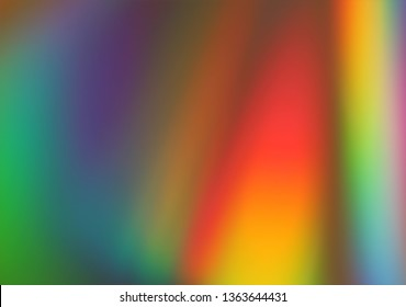 Abstract pink, yellow, blue, green and red lights background, abstract blurred backdrop colored by light spectrum colors. Colored bright website pattern, banner header or sidebar graphic art