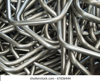 Abstract of Pipe bending forming for use in directors furniture