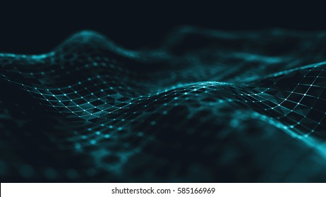 Abstract polygonal space low poly dark background with connecting dots and lines. Connection structure. Science background. Futuristic polygonal background. Triangular background. Wallpaper.