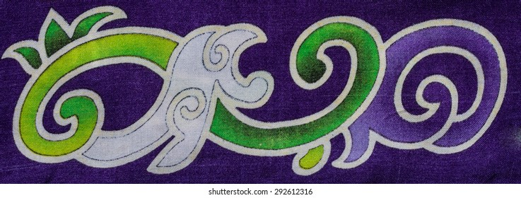 Abstract  print pattern fabric background.