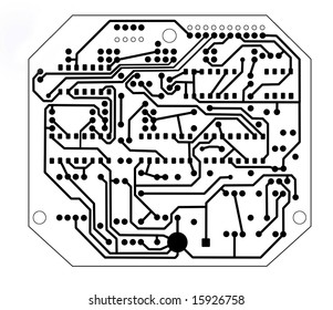 abstract of printed circuit board pattern