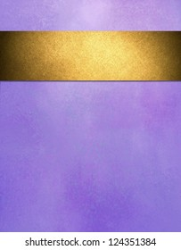 abstract purple background gold ribbon