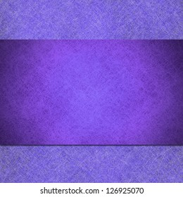 abstract purple background linen canvas parchment material illustration, stripe or ribbon layer, artsy website design template concept, vintage grunge background texture, blank sign or brochure ad