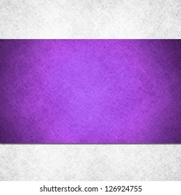 abstract purple background on frosty white background, linen parchment material illustration, purple stripe ribbon on white layer, website design template, vintage grunge background texture, banner