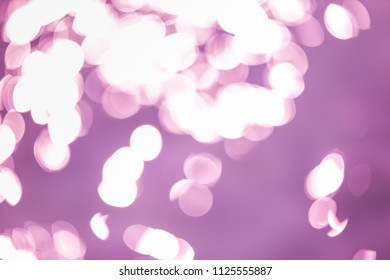 Abstract purple bokeh light background
