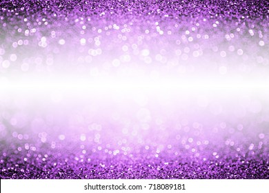 Abstract purple glitter sparkle confetti background for happy birthday party invite, Spooky kid Halloween magic trick treat flyer, mardi gras sale, woman dance backdrop or Christmas luxury glam border