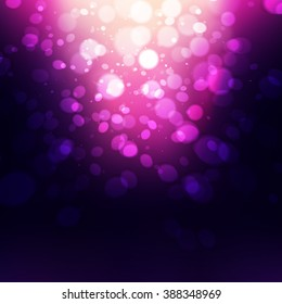 Abstract Purple Holiday Background bokeh effect.