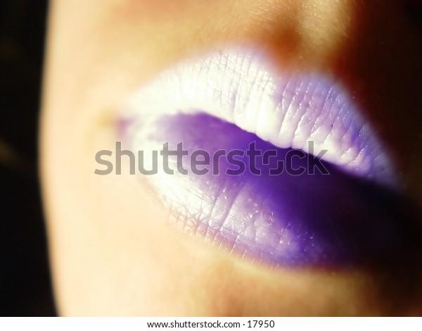 Abstract Purple Lips