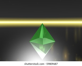 Abstract - Pyramid  against neutral background(CGI)