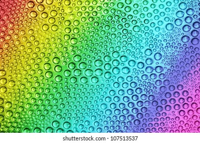 Abstract rainbow drops, can be used as background.