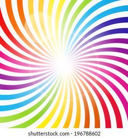 Abstract Rainbow Hypnotic Background  Illustration.