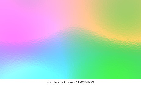 Abstract rainbow light neon fog soft glass background texture in pastel colorful gradation.