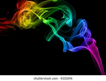 Abstract rainbow smoke