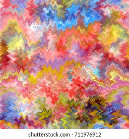 Abstract rainbow vivid pattern with grunge wavy striped  elements  for web design