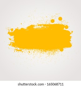 Abstract raster background. Colorful paint banner