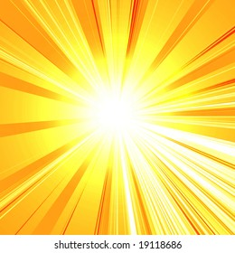abstract rays on a soft yellow background